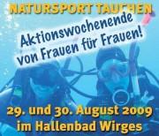 """Das Plakat der Veranstaltung """"Natursport Tauchen"""""""