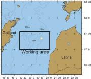 Das Arbeitsgebiet der Expedition in der Ostsee