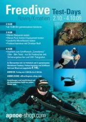 Der Flyer der Freedive Testdays 2009