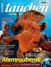 Heute erschienen: die Oktober-Ausgabe von tauchen;