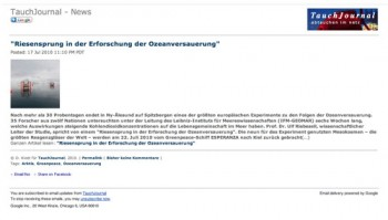 TauchJournal News-E-Mail