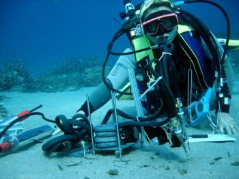 Messung im Mittelmeer