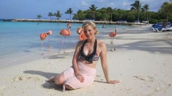 Eva Habermann auf Aruba