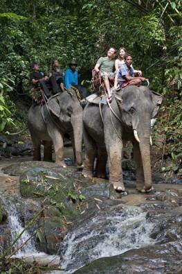 Elefantenreiten in Thailand, Foto: Frank Schneider