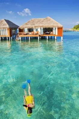 Wasserbungalows, Foto: © Velassaru Maldives