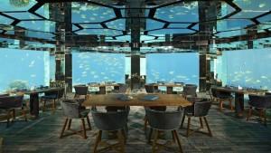 Unter-Wasser-Restaurant, Foto: © Anantara Kihavah Villas