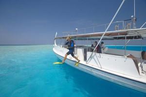 Bootstauchgang auf Baros, Foto: © Baros Maldives