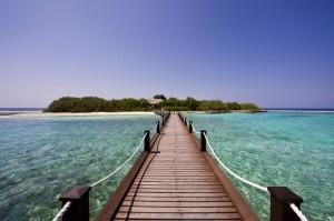 Blick auf die Insel, Foto: © Sheraton Maldives