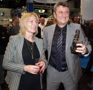 """Robert und Ella Stoß mit der goldenen Ersten Stufe """"MK25"""", Foto: O. Klodt"""