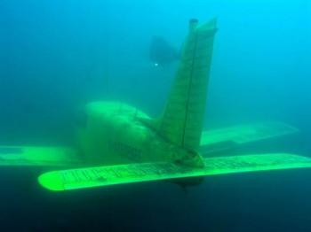 Flugzeug im Kreidesee