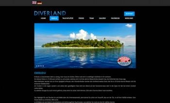 Diverland-Website