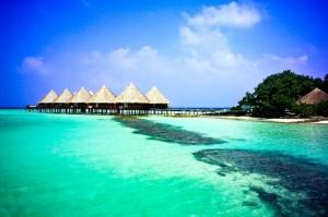 Wasserbungalows, Foto: © Velidhu Island Resort