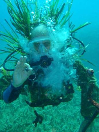 George Vella als Neptun Foto: © Calypso Diving Centre