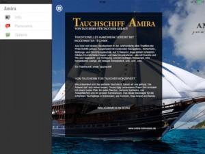 """Screenshot der """"AMIRA""""-App"""