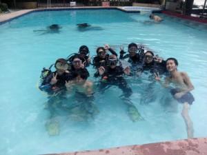 Ausbildung im Pool, Foto: © Artistic Diving