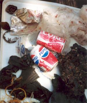 Müllfang vom Pazifischen Meeresboden