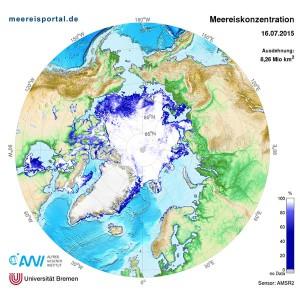 Meereiskonzentration in der Arktis