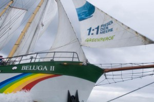"Das Greenpeace-Schiff ""Beluga II"""