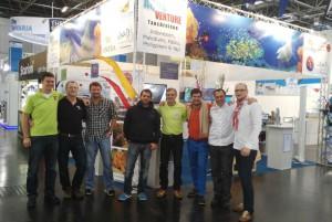 """Das Team von Aquaventure Tauchreisen auf der """"boot"""""""