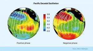 Muster der dekadischen Klimaschwankung im Pazifik in der Meeresoberflächentemperatur
