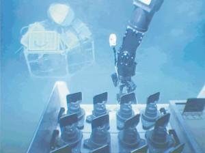 """Der Tiefseeroboter """"Victor 6000"""" bei der Arbeit an einer """"HAUSGARTEN""""-Station"""