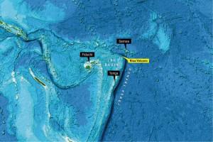 Das Hydrothermalfeld am Niua-South-Vulkan liegt im Lau-Becken zwischen Fidschi und Samoa