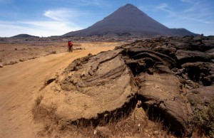 Lavafeld am Vulkan Pico