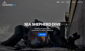 Die Website von Sea Shepherd Dive