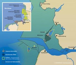 Ölbohrungen im Wattenmeer