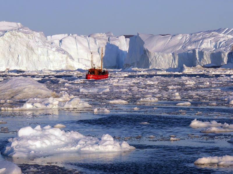 Eisberge in Isfjord Illulissat