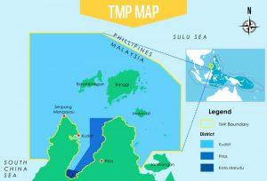 Karte des Tun Mustapha Parks