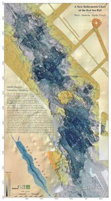 Meeresbodenkarte des Roten Meers