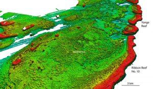 Nord-West-Blick auf das Ribbon Reef Nr. 10