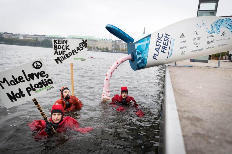 Greenpeace-Aktion Hamburger Binnenalster