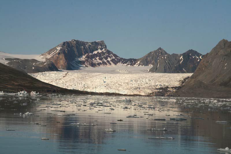 Gletschergebiet auf Spitzbergen