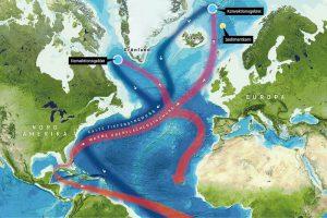 Strömungen im Nordatlantik