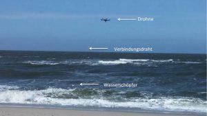 Wasserprobennahme mit der Drohne