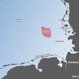 Übersichtskarte mit der Lage des entdeckten Pockmark-Feldes