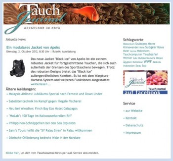TauchJournal-News-per-Mail-Service