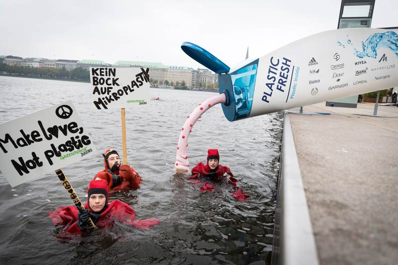 Greenpeace-Aktion Hamburger Binnenalster